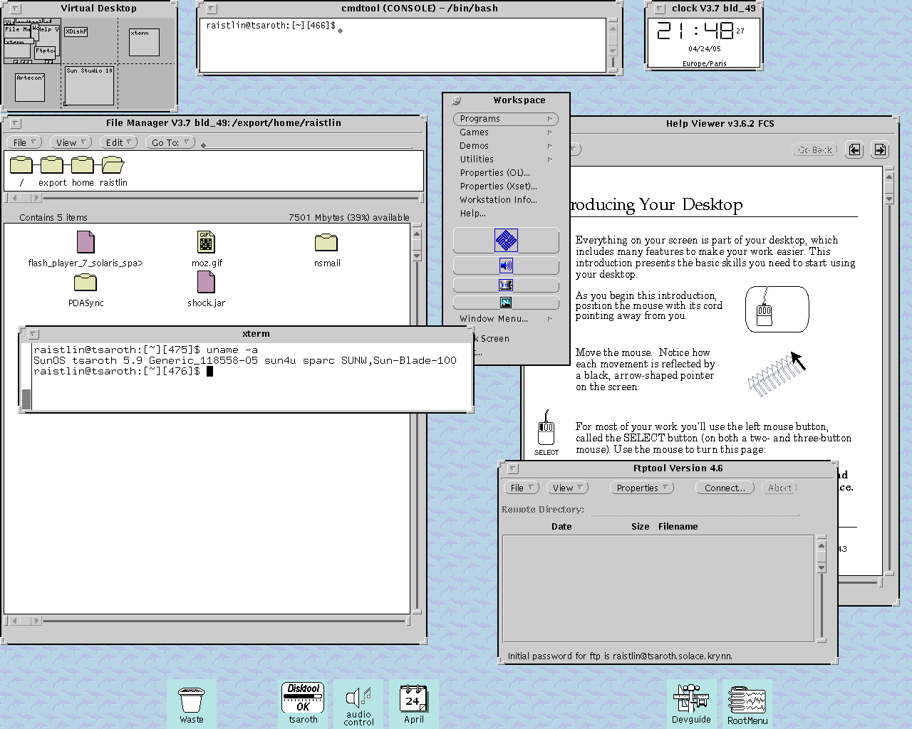 OpenWindows Screenshot